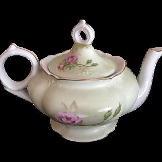 Japanese Vintage Musical Tea Kettle Porcelain Collectible Floral Design