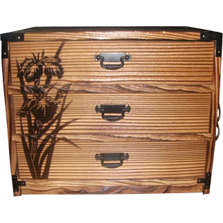 Lovely Japanese JEWELRY BOX Designs Bamboo Vintage Wood Box- Memory Box Trinket