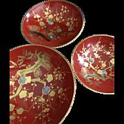 Collectible Japanese Vintage SAke Cups Bonsai Motif High QUALITY