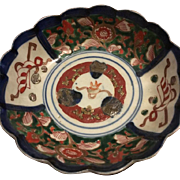 Rare Collectible EDO Perdiod Japanese Imari Plate Small Overglaze Enamel