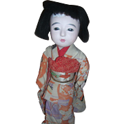 Very Old Japanese Ichimatsu Ningyo Doll Meiji Collectible Doll