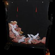 Japanese Yuzen Furisode Kimono Silk Flying Cranes