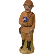 Rare Japanese Bisque Hakata Doll Military/Soldier Collectible