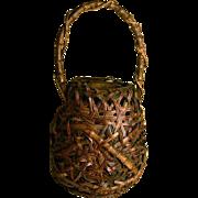 Japanese Smoked Basket Wagumi Style Ikebana Basket Bamboo Basket