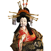 Japanese Kyoto  Doll Collectible Gofun Doll Bijin Rare Silk Kimono Geisha Doll Vintage