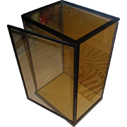 "Vintage Japanese Custom Glass Case For Japanese Geisha Dolls Large 21"" Display Glass Case"