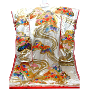Fine Japanese Silk Uchikake Kimono Dress Wedding High Quality Embroidered