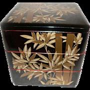 Large Japanese Bento Box Jubako Bamboo Motif 3 tier Food Storage
