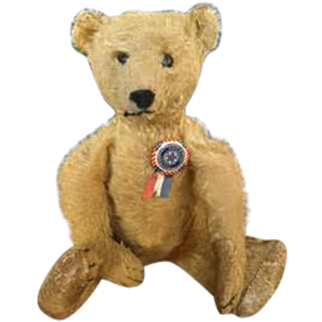 1900 Golden Mohair Teddy Bear