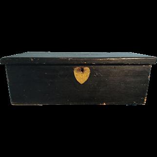 FABULOUS 19th Century Original Paint Box/Heart - BEST