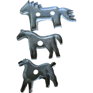 19th Century Horse Cookie Cutters (3)