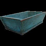 19th Century Dough Box - Dry Robins Egg Blue Original Paint