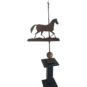 19th Century Fabulous Horse/Star Weathervane