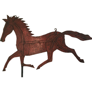 19th Century Horse Vane - Red Paint - GREAT