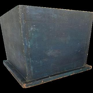 19th Century HUGE Indigo Blue Box