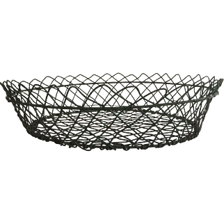 19th Century Large Painted Wire Basket - Great Offering