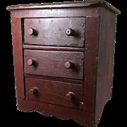19th Century Miniature Dresser - Original Paint