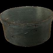 19th Century Reverse Finger Pantry Box - Soft Blue