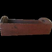 19th Century Red Apple Tray - Original, Dry Paint - Very Nice