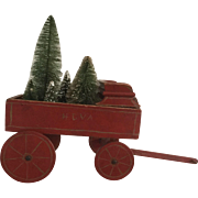 Salesman Sample  19th Century Little Wagon GREAT Antique