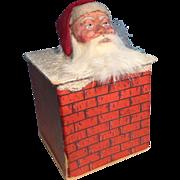 19th Century German Santa Container - Santa in Chimney