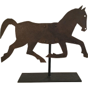 19th Century Small Sheet Metal Horse Vane - Great Size