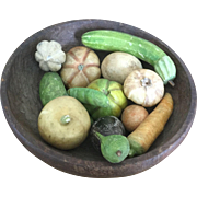 19th Century Collection of Wonderful Stone Fruit/Vegtables