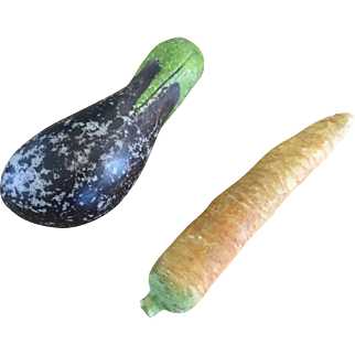 19th Century Fruit/Vegtable  Eggplant   Carrot
