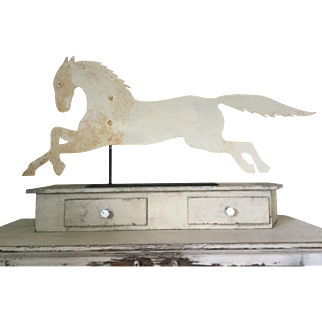 19th Century Running Horse Weathervane - Oyster White