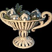 19th Century White Metal Basket