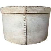 LARGE 19th Century- Oyster White Pantry Box