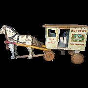 Antique Borden's Milk Wagon Toy - 1900-1910 era