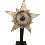 Antique Architectural Cast Iron Star on base