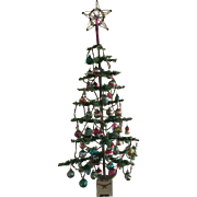 Great Early Feather Tree - 44inches and fully decorated