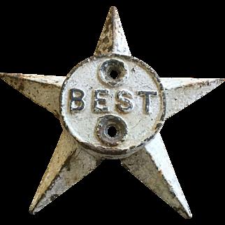 Architectural Cast Iron Star - Original White Paint
