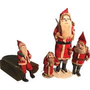 Collection of Early Santas & Mini Sled