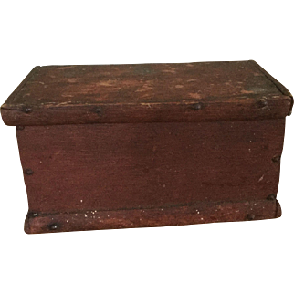 Great Diminutive Document Box - Original Dry Red Surface