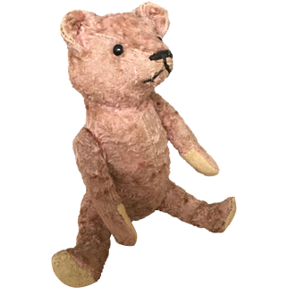 """""""Pinky"""" Early 1910-30 Mohair Jointed Teddy Bear"""