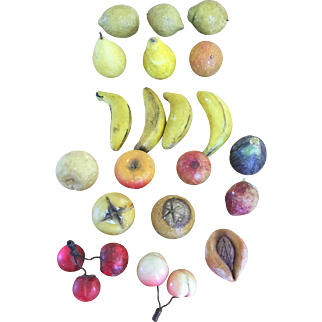 19th Century Collection of Miniature Stone Fruit - Priced Separately