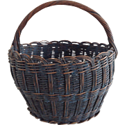 Beautiful Blue Basket - Wonderful Original Surface
