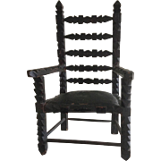 Wonderful Doll Chair - Folk Art