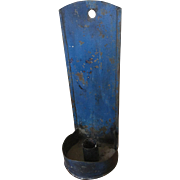 Fabulous Candle Sconce in Wodnerful Original Blue Paint