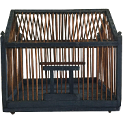 Architectural Folky Blue Bird Cage