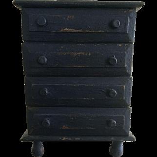 Salesman Sample or Doll Blue Dresser