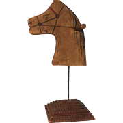 Salesman Sample Hobby Horse Head/Tramp Art Base