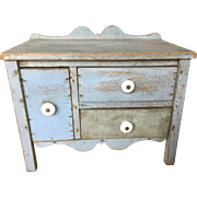 19th Century Salesman Sample Sideboard - Original Blue Paint