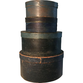 Stack of 19th Century Pantries- Blues