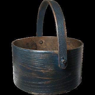 19th Century Blue Swing Handle Pantry Box