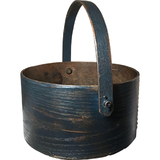 19th Century Blue Swing Handle Pantry Box