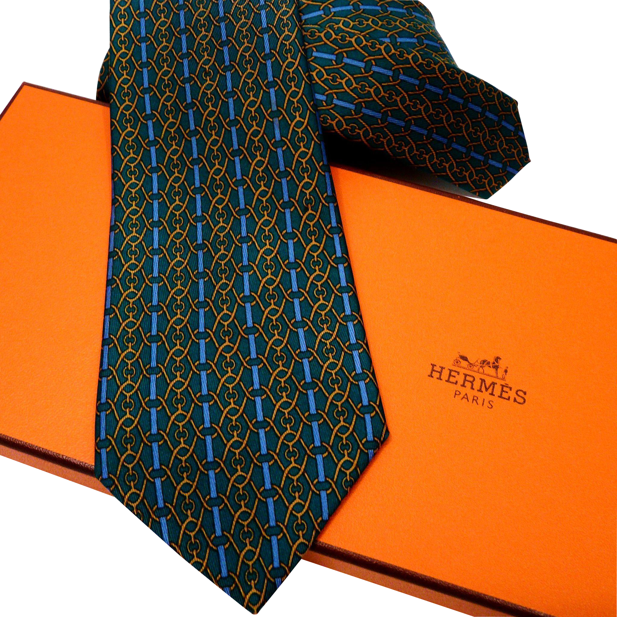 authentic vintage hermes silk tie 989 sa early collection